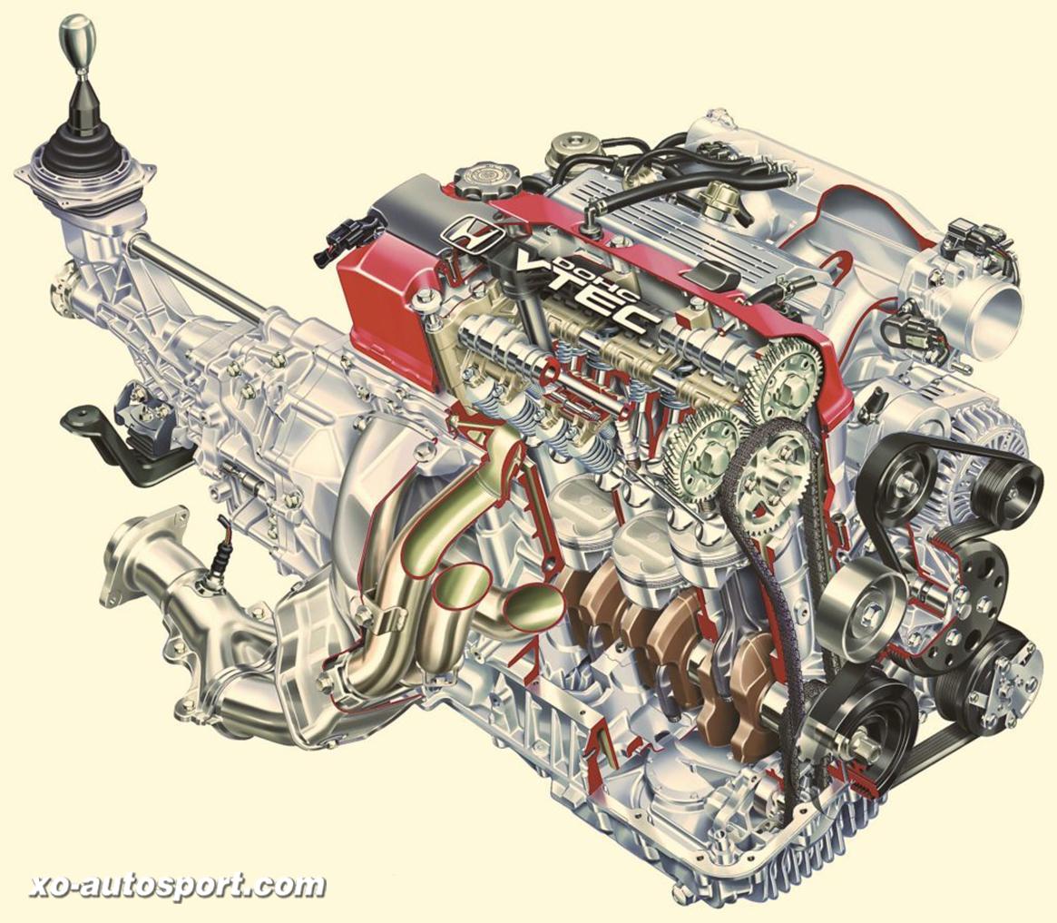 2004 - Honda S2000 - Trasparenza del motore.
